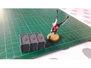 Munitorum supply crate (size 3) proxy