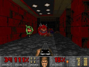 3D printing in hell (doom e1m1)