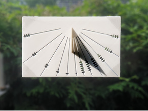 Customizable vertical half-transpararant Sundial for sun oriented windows