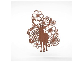 a deer in a flower