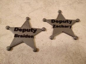Sheriff's Badge Customizable
