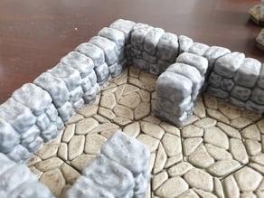 WDhex sturdy walls & corners for irregular stone floor
