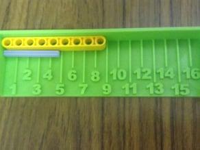 Lego axle measurer