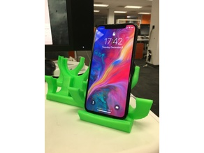 Qi wireless charger stand with landscape for iPhone