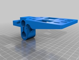 Printrbot Dual Extruder Carriage and Mount V2 for Linear Bearings