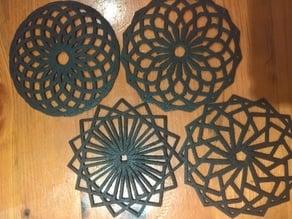 Customisable Spirographic Coasters