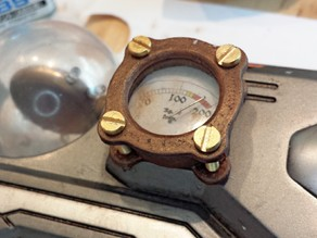 Steampunk Ornament Manometer 4 flanshes
