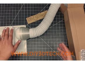 K40 eBay CO2 Laser Exhaust Fan Adapter for Marine Vent Hose!