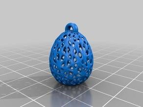 Voroni Style Easter Egg Earrings
