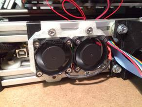 Double 40mm Fan support for MendelMax 1.5 and 2.0