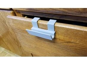 Hanging drawer handle