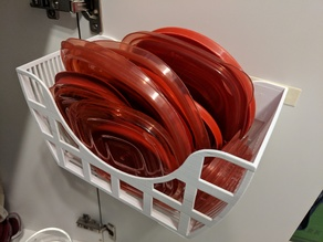 Tupperware Lid Basket