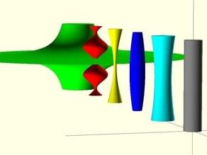 Parametric Column, Cylinder with varying radius