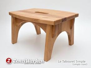 Le Tabouret Simple (simple stool) cnc