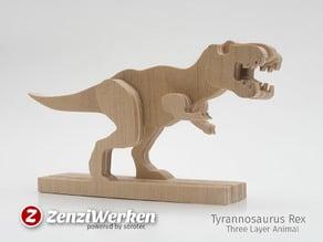Tyrannosaurus-Rex 3-layered-animal cnc/laser