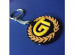 royral enfield continental GT key chain logo