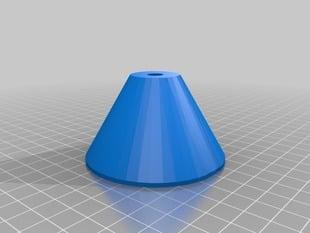 Closed version of adjustable spool holder cone