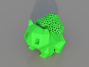 Low Poly Voronoi Hybrid Bulbasaur