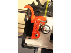 Lulzbot Taz 5 Speed Idler arm & Latch for Greg Wade extruders