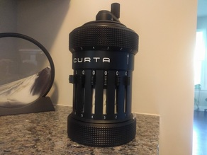 Curta Calculator Type I scaled at 3:1