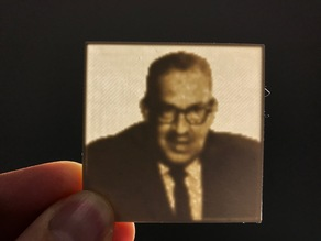 Thurgood Marshall Lithopane