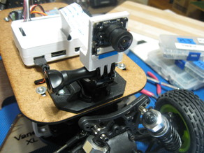 Rpi Wide Angle Camera GoPro Mount for Donkey Car