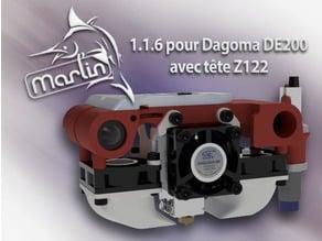 Marlin 1.1.6 pour DE200 avec tête Z122 (hex+sources)