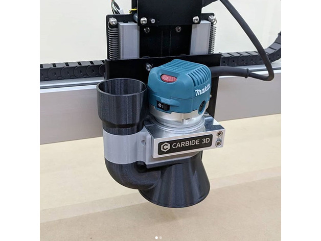 Shapeoko CNC Dust Collector for Makita Router by noahlileger