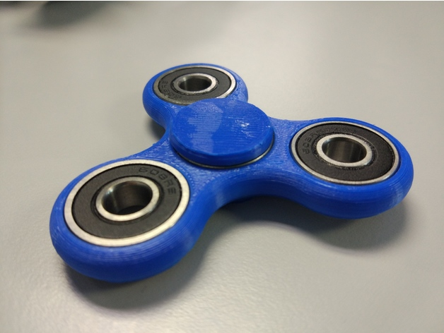 Tri Fidget Spinner Toy 3D Printed