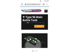 SimplePlanes Type-96 MBT