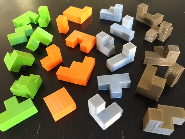 Cube Puzzle Quartet By Mathgrrl Thingiverse