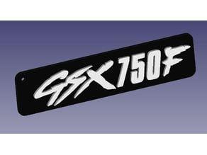 Bicolor Suzuki keychain GSX750F