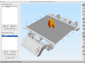 Prusa i3 MK2 model (bed) for Simplify3D