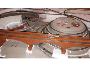 double track n scale bridge