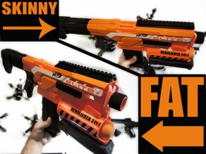 Demolisher Nerf Picatinny Top Rail Wide And Skinny