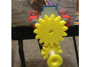 Stepper motor pulley