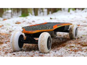 Electric off-road skateboard tire