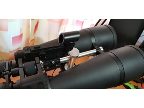 Astronomy red dot finder holder for big binoculars 20x80 or 25x100