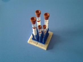 Peg rack test tube holder 1 cm