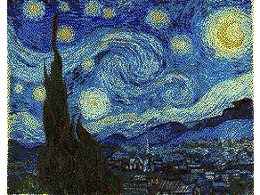 Starry Night Multi-Color Lithophane