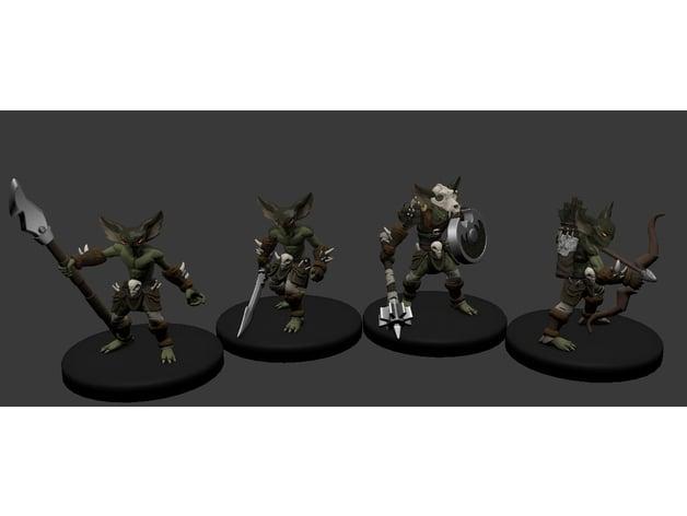Goblin figuras para imprimir en 3D