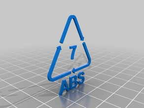 ABS Recycling Triangle for Use with ABS Printed Parts