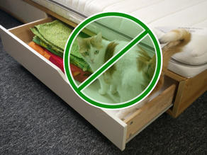 IKEA MANDAL bed drawer protection