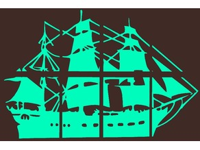 Pirate Ship 2D Sections Wall Art - 8 pc