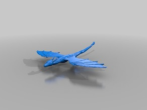 Low Poly Flying Dragon