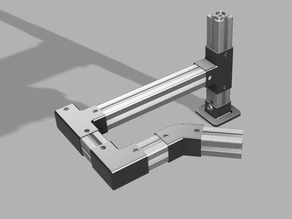 Components for modular profile 20x20