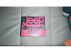 Jeep Logo Hitch Cover (Square Frame)
