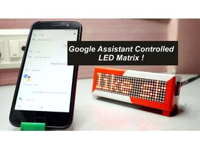 Google Assistant Controlled LED Matrix!