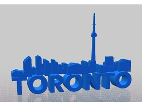 Toronto Skyline and Sign Magnet