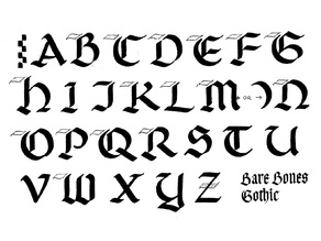 Medieval Gothic Script Letters